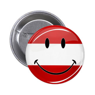 Smiling Austrian Flag Pinback Button