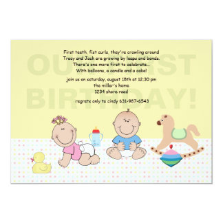 Smiling Babies Invitation