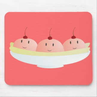 Smiling banana split mouse pad