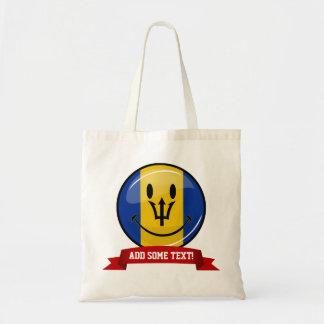 Smiling Barbados Flag Tote Bag