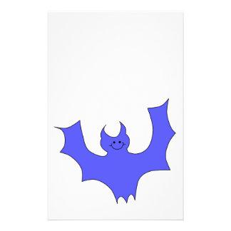 Smiling Bat. Blue Cartoon Flyers