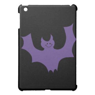 Smiling Bat. Dark Purple. iPad Mini Cover