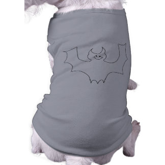 Smiling Bat. White cartoon illustration. Shirt