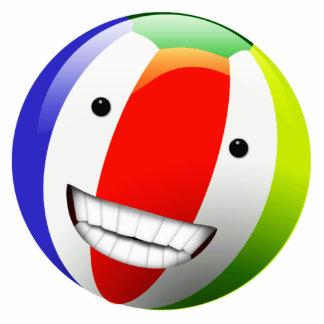 Smiling Beach Ball Happy Face Cutout