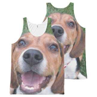 Smiling Beagle All-Over Print Tank Top