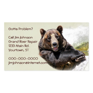 Smiling Bear Double-Sided Standard Business Cards (Pack Of 100)