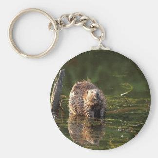 Smiling Beaver Keychain