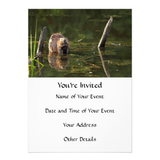 Smiling Beaver Personalized Announcement