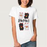 Smiling Beckoning cat - Japanese Manekineko Tshirts