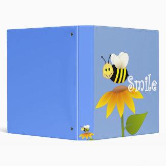 Smiling bee 3 ring binder