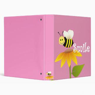 Smiling bee binder
