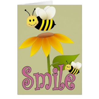 Smiling Bee Greeting Card