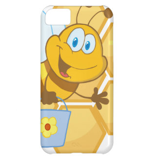 Smiling bee hold a bucket iPhone 5C case