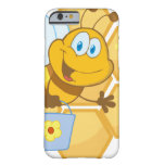 Smiling bee hold a bucket iPhone 6 case