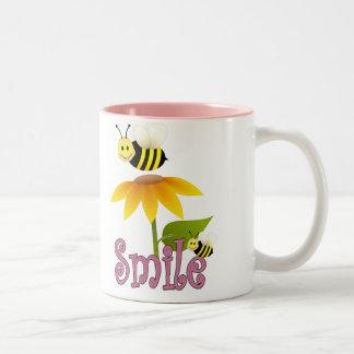 Smiling Bee Two-Tone Coffee Mug
