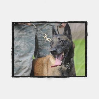Smiling Belgian Malinois Dog Fleece Blanket