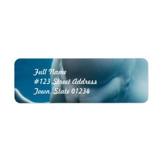 Smiling Beluga Whale Return Address Label