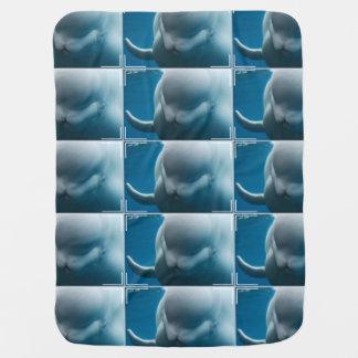 Smiling Beluga Whale Receiving Blankets