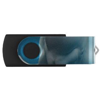 Smiling Beluga Whale Swivel USB 2.0 Flash Drive