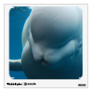 Smiling Beluga Whale Wall Decal