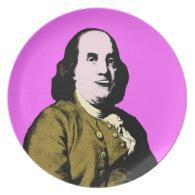 Smiling Ben Franklin ala Style Dinner Plate