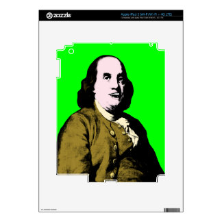 Smiling Ben Franklin ala Style iPad 3 Decal