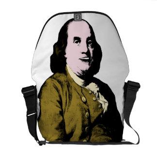 Smiling Ben Franklin ala Style Messenger Bag