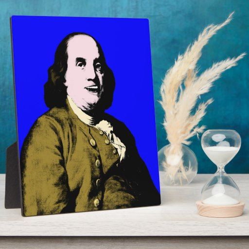 Smiling Ben Franklin ala Style Photo Plaques