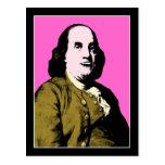 Smiling Ben Franklin ala Style Postcard