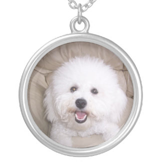 Smiling Bichon Frise Necklace