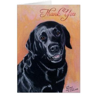 Smiling Black Labrador Painting Card