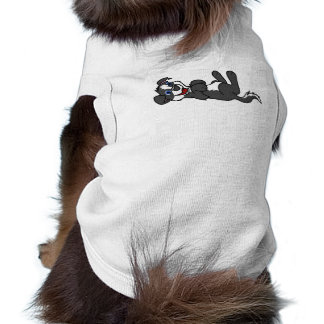 Smiling Black Puppy Dog with Blaze Roll Over Tee