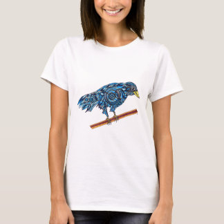 Smiling Blue Crow T-Shirt