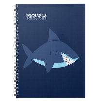 Smiling Blue Shark Notebook