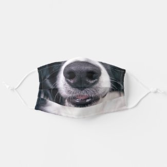Smiling Border Collie Funny Dog Reusable Cloth Face Mask
