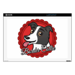 17' Laptop Skin for Mac & PC with Collie Phone Cases design