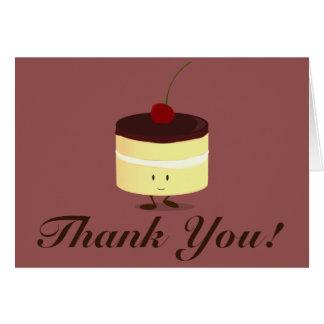 Smiling Boston cream pie thank you Card