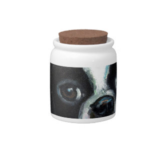 Smiling Boston Terrier Candy Dishes