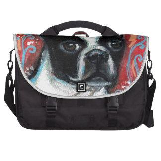 Smiling Boston Terrier Bag For Laptop