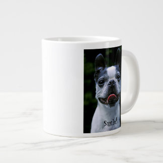 Smiling Boston Terrier Large Coffee Mug