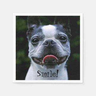 Smiling Boston Terrier Napkin