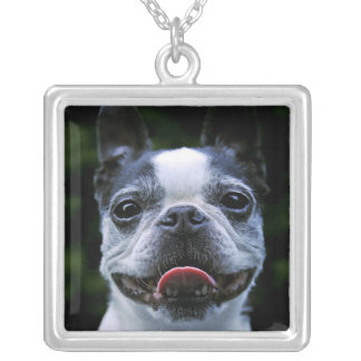 Smiling Boston Terrier Necklace