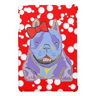 Smiling Boston Terrier Red Bow Case For The iPad Mini