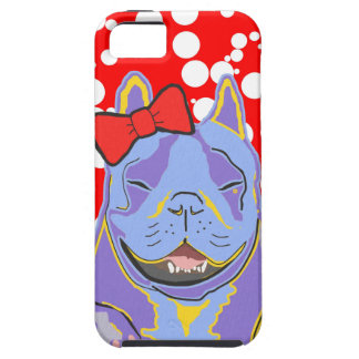 Smiling Boston Terrier Red Bow iPhone SE/5/5s Case