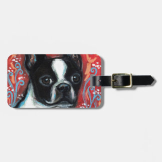 Smiling Boston Terrier Tag For Luggage