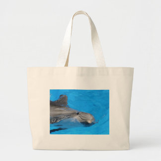 Smiling Bottlenose Dolphin Tote Bags