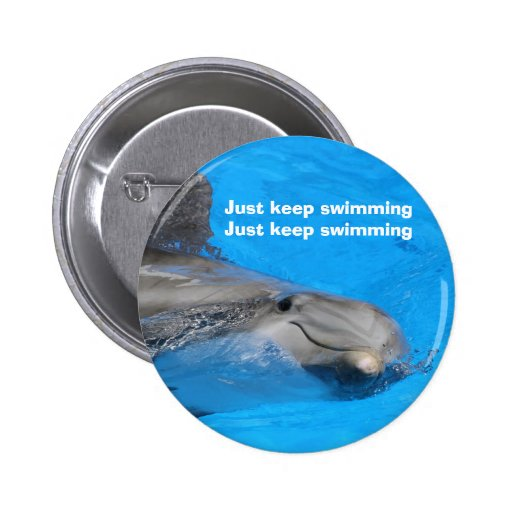 Smiling Bottlenose Dolphin Buttons