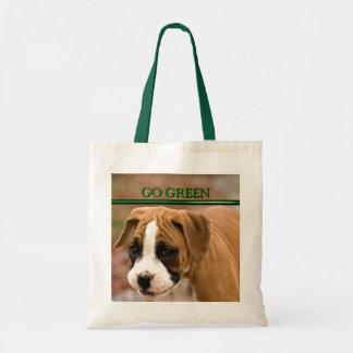 Smiling Boxer Dog, Go Green Eco Friendly Bag