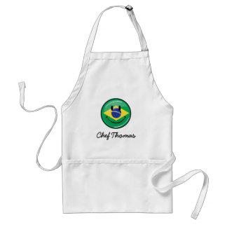Smiling Brazilian Flag Adult Apron
