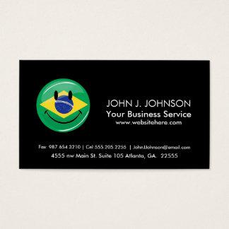 Smiling Brazilian Flag Business Card